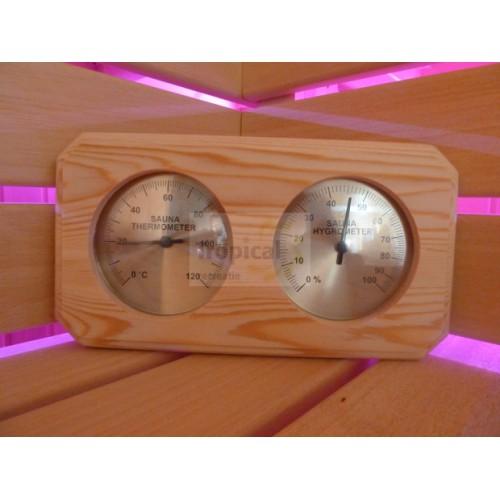 Termohigrometr na drewnie