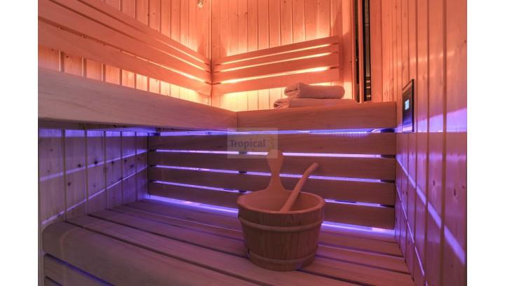 Sauna Fińska z podświetleniem ław LED